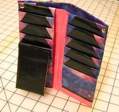 Duck Tape Wallet, Purple & Pink Tie Dye