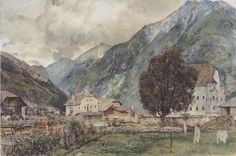 View of Böckstein and the entrance to Anlauftal - Rudolf von Alt - WikiPaintings.org