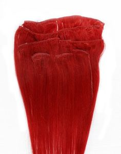 """Full Head 16"""" 100% REMY Human Hair Extensions 7Pcs Clip in Red by Hair faux You. $54.99. High quality, tangle free, silky soft & thick;. Full Head 16"""" 100% REMY Human Hair Extensions 7Pcs Clip in Red. Easy to attach and remove, totally DIYable.. High quality metal clip, corresponding colors looks natural;. 100% human hair, can be curled, dyed, straightened;. You are bidding on a brand new, Full Head 16"""" 100% REMY Human Hair Extensions 7 Pcs Clip in Red.  Our 100% hum..."""