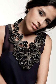 Collar de Madame Butterfly cremallera por ReborneJewelry en Etsy