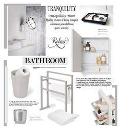 """""""Modern Bathroom"""" by cruzeirodotejo ❤ liked on Polyvore featuring interior, interiors, interior design, home, home decor, interior decorating, .wireworks, M&Co, Tom Dixon and bathroom"""