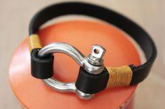 Leather BraceletMen Bracelet Leather Men's by Monkeychain196, ฿438.00
