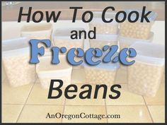 Taking a few minutes to cook dry beans and store them in the freezer is a great way to save money and get away from buying lots of canned beans.