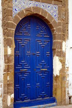 Blue door - Marrakech, Morocco