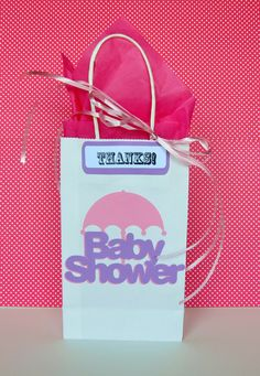 Baby Shower Favor Bag by MyMixedMediaCrafts on Etsy