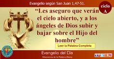 MISIONEROS DE LA PALABRA DIVINA: EVANGELIO - SAN JUAN 1,47-51