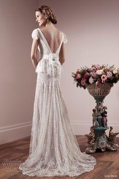 lihi hod spring 2014 bridal collection wedding dress flutter sleeves back