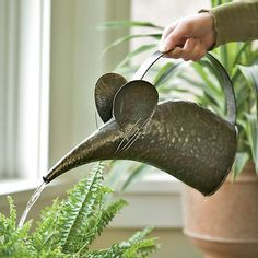 Mouse Watering Can; Gardener's Supply Company