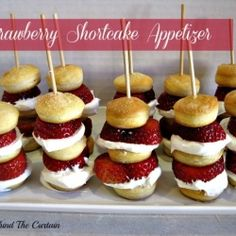 Strawberry Shortcake Appetizer: easy & delicious! Would be a fun classroom Valentine party treat instead of the usual cupcakes.