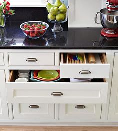 Kitchen drawers organization