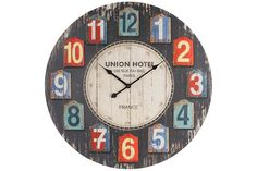 Ceas de lemn de perete Union Hotel