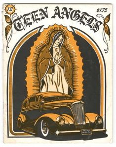 """From 1977 to 2000, one of the strongest voices in the zine community was a Chicano artist and writer going by the name """"Teen Angel."""" Several years of working at a magazine called Lowrider delving into the details of Latino car culture convinced him that there was a market for a zine catering to broader issues in the Chicano community, which inspired him to start a zine with a name based on his pseudonym—Teen Angels.  Teen Angel sought to expand the Lowrider concept into areas like fashion..."""
