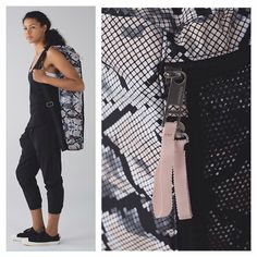 NWT Lululemon Drishiti Yoga Tote Snake ✅New with tag. ✅Color: ZSBP ✅Store sweaty clothes, a towel or water bottle in the exterior mesh pocket  ✅Holds 50lbs ✅31x7 Very cute print!   Check out my other Lululemon!! ❌No Trades, No Low ballers, please! lululemon athletica Bags Totes