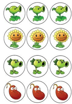 I had an anonymous request for Plants vs. Zombies birthday printables so I created four pages of cupcake toppers. Zombie Cupcakes, Zombie Cookies, Zombie Birthday Parties, Zombie Party, Halloween Birthday, Plants Vs Zombies, Plantas Versus Zombies, P Vs Z, Cupcake Toppers Free