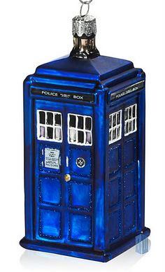 Tardis ornament- I want this so badly!