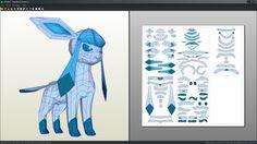 Glaceon pokemon papercraft by Antyyy.deviantart.com on @DeviantArt