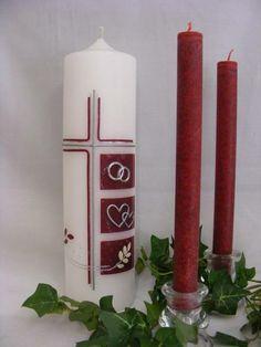 Hochzeitskerze*Love Elements*inkl.Beschriftung von WACHSLÄDLE auf DaWanda.com