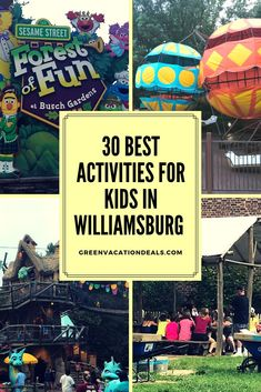 30 activities for kids to enjoy in Williamsburg, Virginia: children's rides at Busch Gardens & Water Country USA, Ripley's Believe it Or Not, Colonial. Family Vacation Spots, Family Vacation Destinations, Vacation Deals, Family Travel, Williamsburg Virginia, Colonial Williamsburg, Water Park Rides, Water Parks, Have A Nice Trip