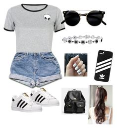 """"" by heloisagrier ❤ liked on Polyvore featuring beauty, WithChic, adidas and Coach"