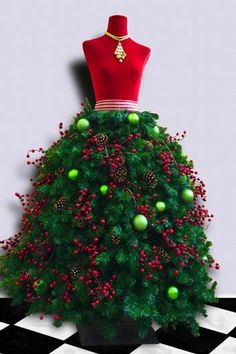 Tutorial Deluxe Dress Form Christmas Tree with by MannequinMadness