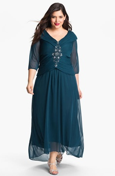 Alex Evenings Embellished Portrait Collar Gown (Plus) available at #Nordstrom........$188.00