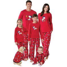 141cbbf0bb Christmas Family Matching Snoopy Printed Two Pieces Pajamas