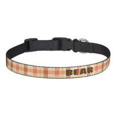 Custom Vintage Plaid Designed Dog Collar. Pet Collar - retro gifts style cyo diy special idea