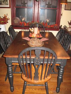 primitive white dining chair primitive dining room dining room designs decorating ideas - Primitive Kitchen Tables