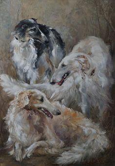 """""""Friends"""" by Russian artist, Oksana Kravchenko (1971) Russia, Novouralsk"""