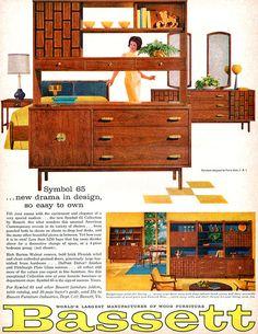 Bassett Furniture SYMBOL 65 Pierre Debs Design MID CENTURY MODERN 1963 Print Ad | eBay