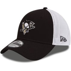 58594304bbd Men s New Era Black Pittsburgh Penguins Fade Classic 39THIRTY Flex Hat