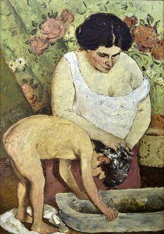 Hair Washing, 1911-1912 Ap Art, Kirchen, Art History, Sculptures, Painting, Romania, Hair Washing, Homeland, Europe