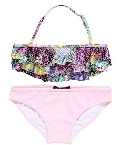 Shop At Stella Cove | Pastel Color Snake Print Bikini for Girls