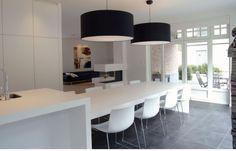 Kitchen Dinning Room, Kitchen Living, Kitchen Decor, Kitchen Design, Luxury Kitchens, Home Kitchens, Cuisines Design, Kitchen Interior, Living Room Designs