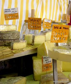 Cheese at the market in Old Antibes, France. www.wanderwithwonder.com #travel #photos
