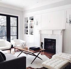 White walls, black window frames