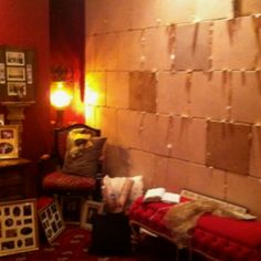 The Prayer Room a very Dear Pastors wife created. I wonder how many of the prayer request stuck in the crevices have already been answered???