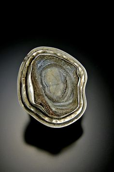 Ring   Bond Blackman.  Sterling silver and Cave Druzy.