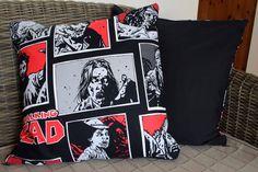 Walking Dead Cushion Cover Zombie Cushion by BlossomvioletCrafts #etsyhandmade #bestofetsy #etsyspecialt @MDFDRetweets