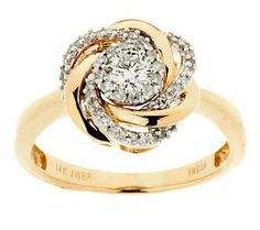 The knot design of this ring is absolutely beautiful! #Loveknot