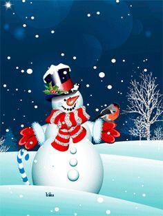 Снеговик - анимация на телефон №1208932