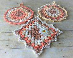 Dishcloth Set Crochet Dishcloths Green by CraftCreationsbyRose