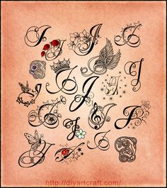 lettering tattoo #J poster