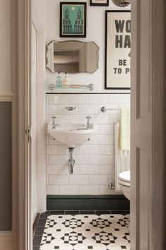 Favorite Things Friday - Liz Marie Blog Bathroom Tile Designs, Bathroom Renos, Bathroom Ideas, Bathroom Small, Bathroom Renovations, Small Sink, Modern Bathroom, Bathroom Gallery, Bathroom Interior