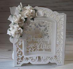 Wedding Card, OOAK Handmade Wedding Card, Happily Ever After Wedding Card