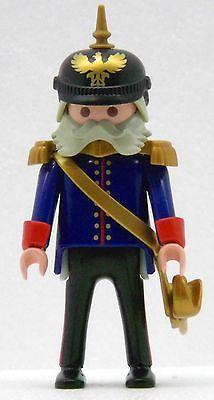 PREUSSEN GENERAL MIT PICKELHAUBE 1900 Playmobil zu O. v. Bismarck Soldaten 1295