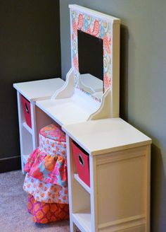 [orginial_title] – Ashley Hall Mila Play Vanity Prettiest little vanity. Ana White, Furniture Plans, Kids Furniture, Building Furniture, Daughters Room, Little Girl Rooms, My New Room, Easy Diy Projects, Diy For Kids