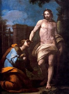 Antonio González Velázquez, Aparición de Cristo a la Magdalena (Noli me tangere), 18th c., Museo Nacional de Escultura, Valladolid