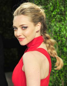 Amanda Seyfried opted for a traditional braid at an Oscars after party, adding some modern appeal with height at the crown.