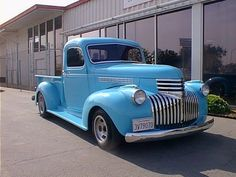 1941 chevy custom pick ups   1941 Chevrolet Pickup Truck Blue Frt Qtr ATM 500x375 1941 Chevrolet ...